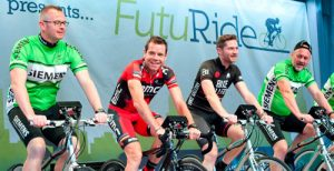 Image from RMIT students light trees and break records with Cadel