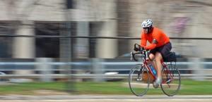Cyclist with helmet - Sydney Medical School