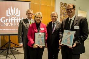 Image from Dr. Hartwig recognized for achievement in promoting Griffith Teacher Education in Canada