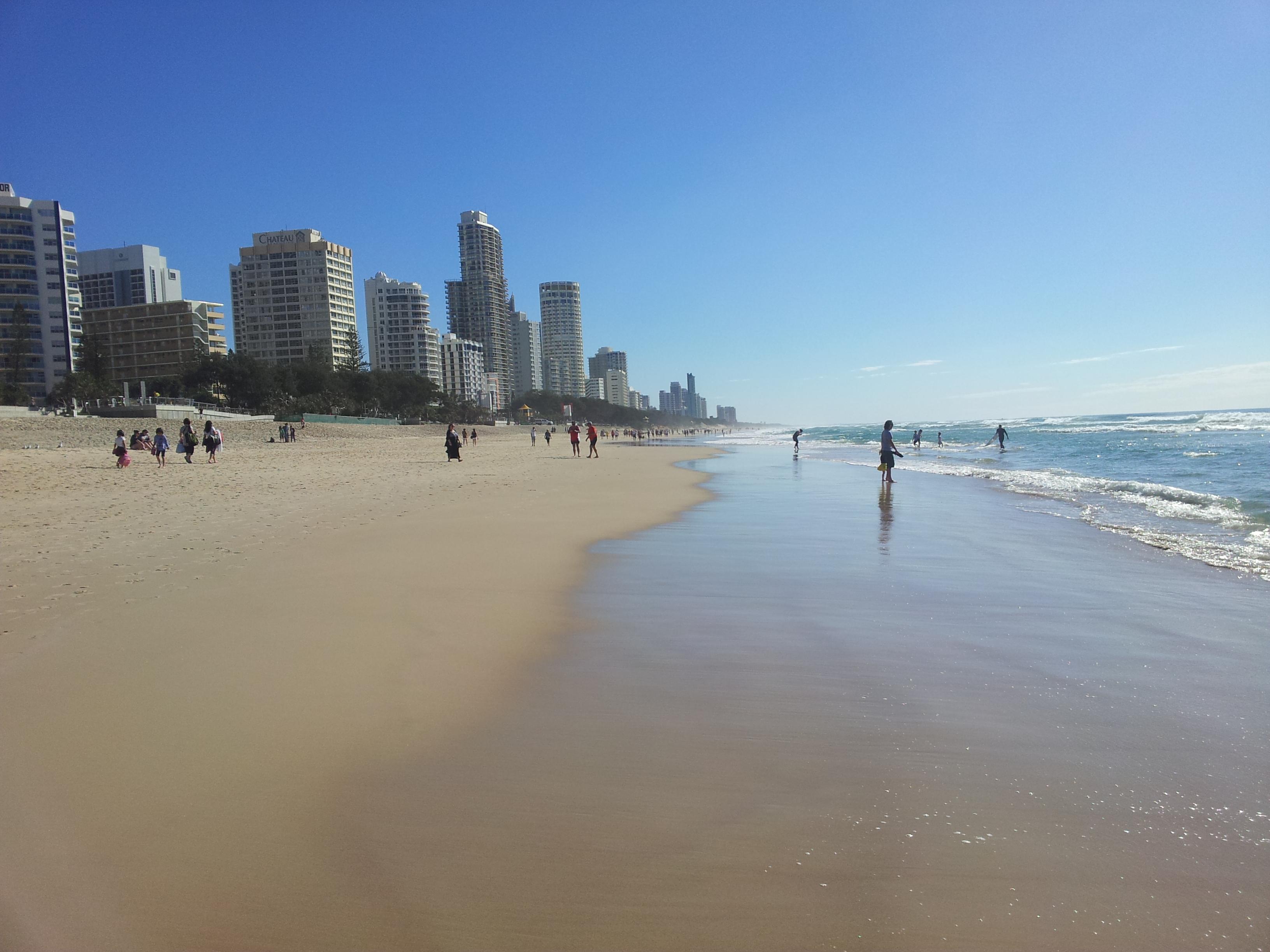 Surfers Paradise beach - Gold Coast Australia