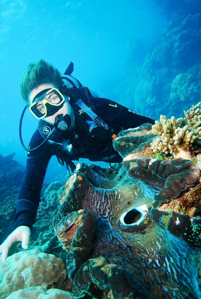 Griffith student - Great Barrier Reef