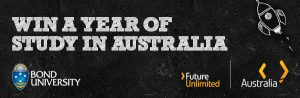 Image from Study 12 months for free at Bond University through Future Unlimited