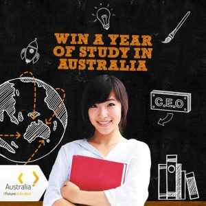 Image from Create an online postcard and win a year of study in Australia.
