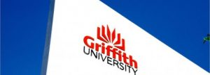 Griffith Uni building logo