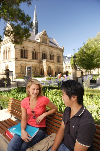 adelaide students on campus