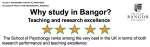 Psychology Programs at Bangor University