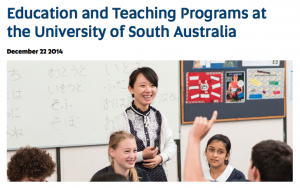 Image from University of South Australia Education and Teaching in Top 100