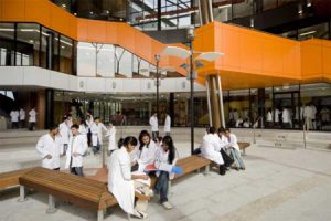western sydney med school students and building