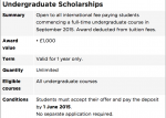 Scholarship Deadline at Gloucestershire
