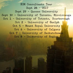 Image from KOM Consultants University Tour