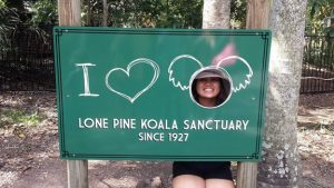 Janine at the Lone Pine Koala Sanctuary
