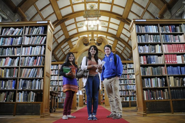 Students in Bangor University Library