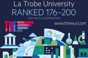 Image from La Trobe University Ranked Top 200 For Arts & Humanities