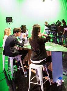 Image from Lights, Sound, Action! RMIT University's New TV Studio Ready