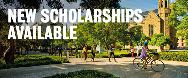 2019 New scholarships at the University of Adelaide!