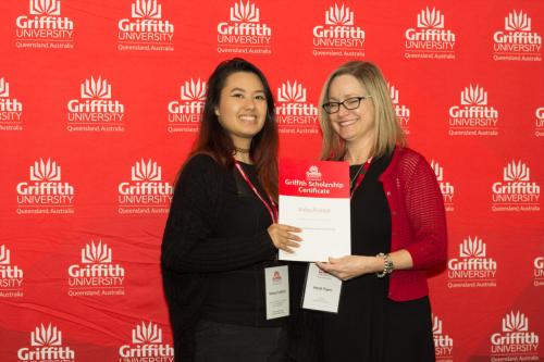 Griffith University Continuing Student Excellence award - Kelsey Frehlich
