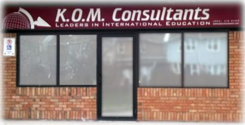 Front of KOM Consultants building