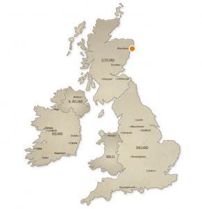 Map of Aberdeen, UK